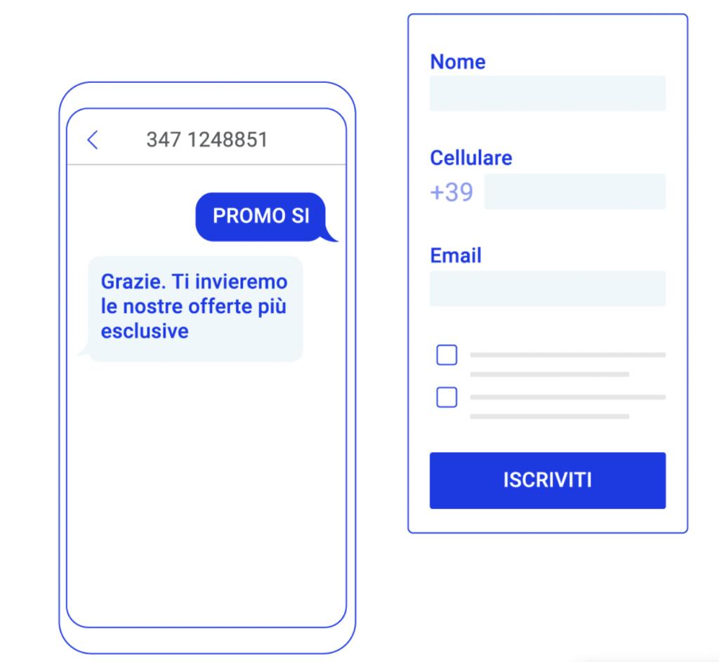 SMS - Acquisisci i contatti